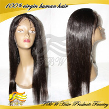 Hot selling full lace wigs 100% virgin human hair silk top wigs